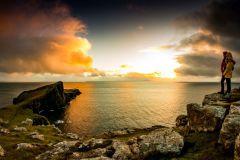 #Neist Point # Isle of Skye #sunset #Nature #Scotland #sea