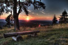 Abendlicher Blick vom Dolmar